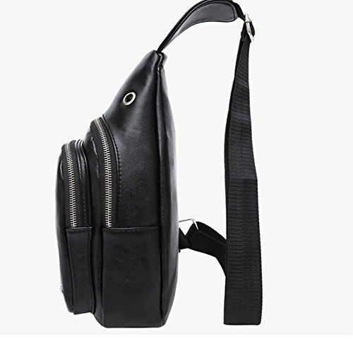 Molle Black Mochila Mochila Grande Trekking Honda Auricular Paquete con Hombro Impermeable para Cámping Excursionismo Pecho ZXJ Bolso wHqIaB