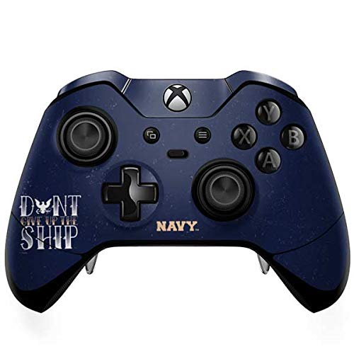 (Skinit Dont Give Up The Ship Xbox One Elite Controller Skin - Officially Licensed US Navy Gaming Decal - Ultra Thin, Lightweight Vinyl Decal Protection)