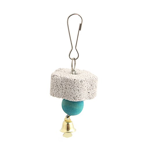 Onpiece Small Animal and Bird Grinding Stones Bird Chew Toy Teeth Shred Light Blue Beads Clean Tool