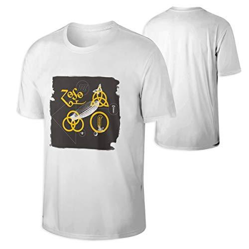 Mans Led Zeppelin Vintage Shirt Music Band Shirt White (Vintage Led Zeppelin Band)