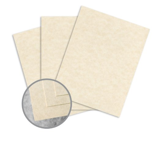 Skytone Natural Card Stock - 8 1/2 x 11 in 65 lb Cover Vellum 30% Recycled 250 per Package by Mohawk Fine Papers Skytone