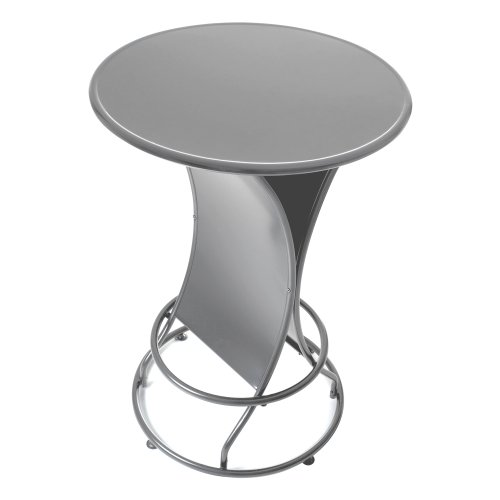 - Trademark Gameroom Weatherproof Outdoor Pub Table, Silver