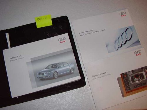 2006 Audi A6 Owners Manual With Navigation Guide
