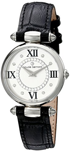 6ede804776eb Claude Bernard Women s 20501 3 APN1 Dress Code Analog Display Swiss Quartz Black  Watch