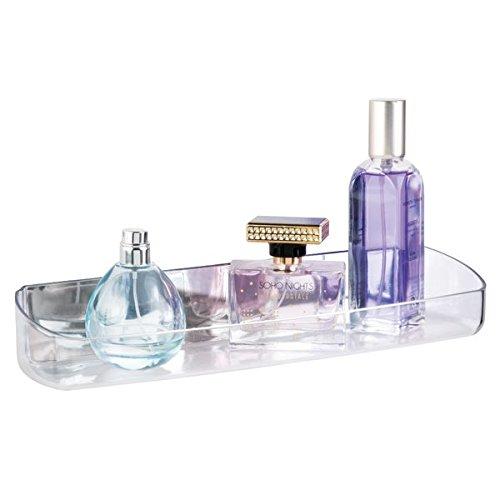 mDesign AFFIXX, Peel-and-Stick Strong Self-Adhesive Una Cosmetic Organizer Tray for Vanity to Hold Makeup, Beauty Products - 12