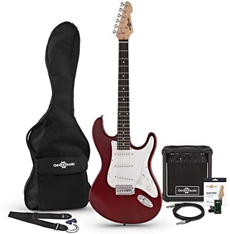 Set de Guitarra Electrica LA + Amplificador Red: Amazon.es ...
