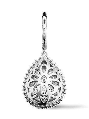 Luxury Silver-Boucles d'Oreilles en Argent 925/1000, Zirconium Blanc
