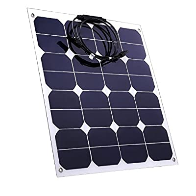 BZBRLZ Solar Panel Flexible 12V 18V Monocrystalline Sunpower Solar Modules with MC4 Connector For Yacht,RVS,Boat,Motorhome,Golf Car,Camping
