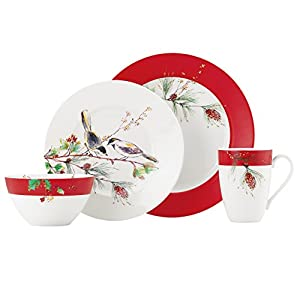 Lenox Winter Song 4-Piece Place Setting  sc 1 st  Amazon.com & Amazon.com: Lenox Winter Song 4-Piece Place Setting: Dinnerware Sets ...