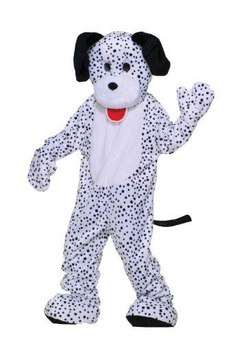 Forum Deluxe Plush Dog Mascot Dalmatian Costume, Black/White, One Size (Mascot Costumes)