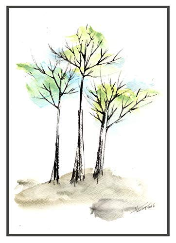 - Autumn trees 1 original watercolor painting