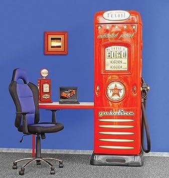 Armoire colonne enfant 1 porte avec bureau intégré GAZO ...