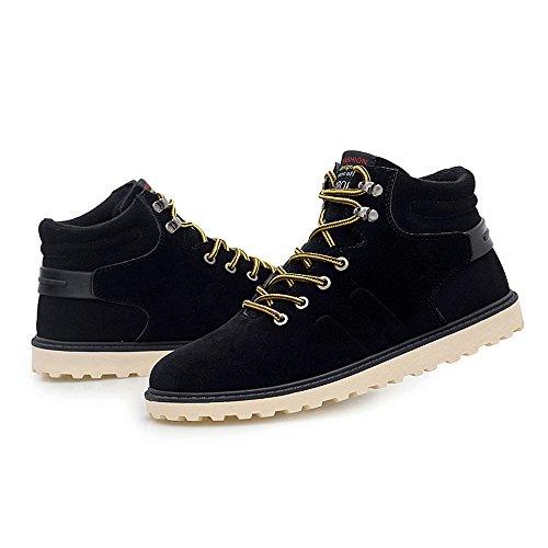 Hishoes Chaussure Chaudes Hommes D'hiver Neige Noir Martin IFdSw7qIx