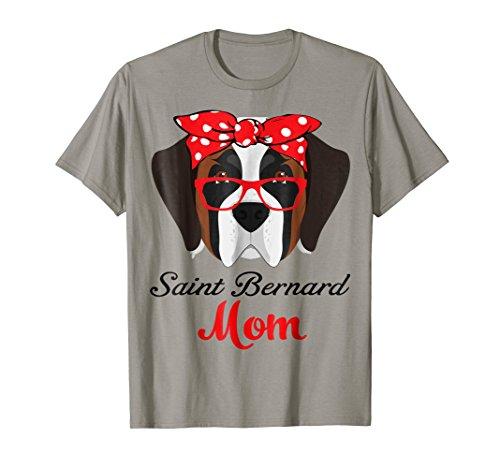Funny Hanging With Saint Bernard Mom T Shirt For Women