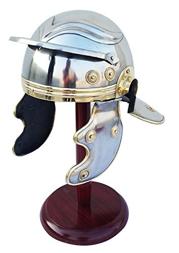 Shiv Shakti Enterprises Roman Centurion Trooper Armour Helmet Roman Medieval Replica (Roman Helmet Steel)
