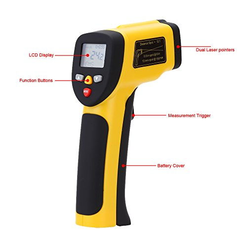 Amazon.com : Double Laser termometro High Precision Digital Infravermelho Infrared Thermometer Non-contact IR Temperature Tester Pyrometer : Everything Else