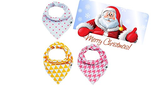 SPECIAL SALE 65% OFF Baby Bandana Bibs, THE ONLY 3 Adjustable Snaps,...