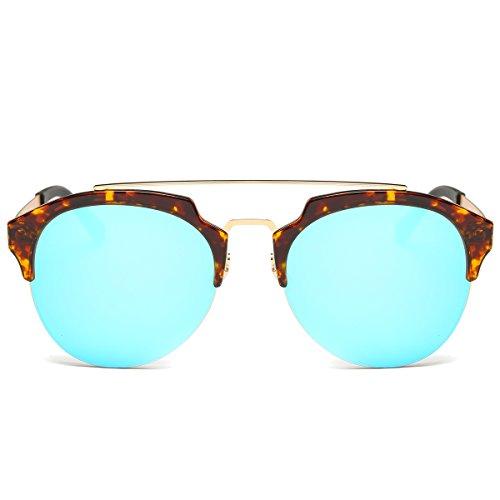 MKY Men Women Fashion Aviator Style Round Polarized Sunglasses UV400 - Framed Small Sunglasses