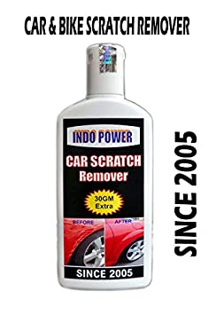 INDOPOWER CAR Scratch Remover Wax  Use on All Car Colours,Not for Dent  amp; Deep Scratches  100gm.