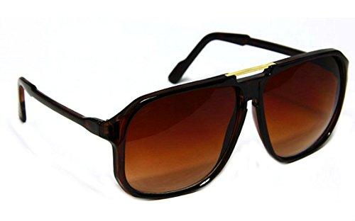 Retro Celebrity Style Flat Top Key Hole Aviator Sunglasses ()