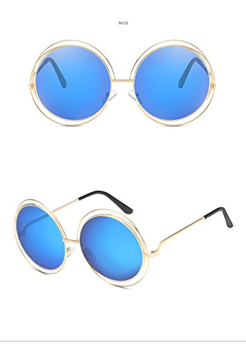 Retro para Nikgic Redondo 126 de de gafas polarizadas Bleu 70mm Glare 75 UV400 nbsp;Mode gafas reflectantes mujer 728 Marco Rose nbsp;– sol Anti rfIqzPf