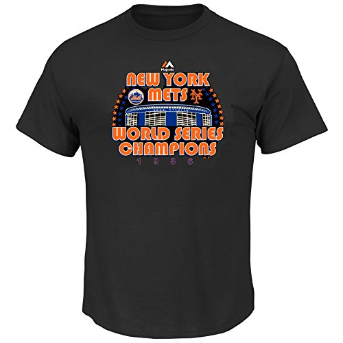 New York Mets MLB Men's World Series Champions 1986 Shea Stadium T-Shirt (X-Large)