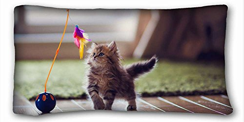 Custom Cotton & Polyester Soft Animal Pillow Cushion Case Cover One Sides Printed 20x36 Inches suitable for X-Long Twin-bed