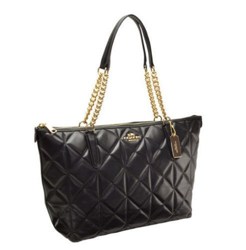 Coach AVA Chain Tote in Quilted Leather (F36661) $495