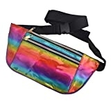 BogiWell Holographic Fanny Pack - Fashion Rave Waist Bag with Adjustable Belt for Women and Men Rainbow