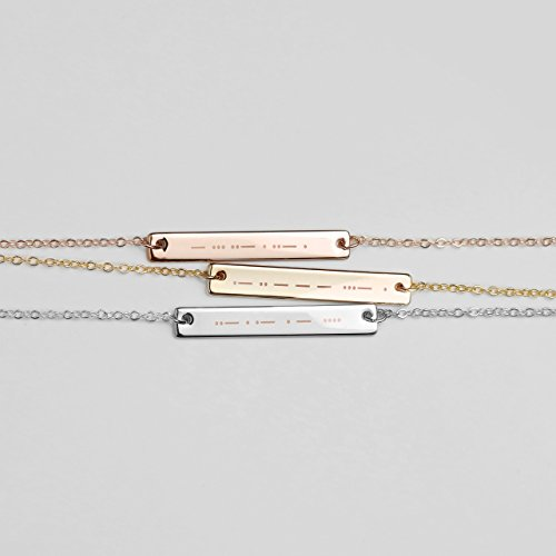(SAME DAY SHIPPING Before 12pm Morse Code Necklace Morse Code Jewelry Sister Gift Sister Necklace Sister In Law Gift High School Graduation Gift -)