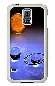 Samsung S5 case unique Crystal Glass Galaxy PC White Custom Samsung Galaxy S5 Case Cover