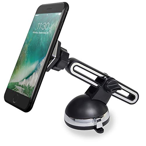 Wonsain Magnetic Car Phone Mount,Universal Dashboard Windshield Mount Holder 360°Rotation with Long Adjustable Arm