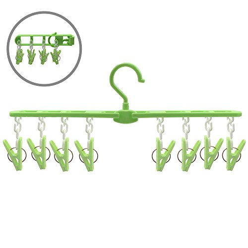 Rabbitroom Folding Plastic Clothing Hangers with Removable C