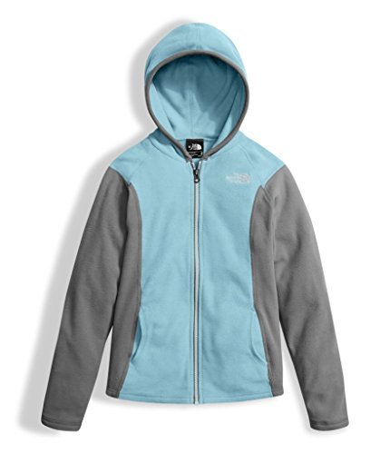 The North Face Girls Glacier Full Zip Hoodie - Nimbus Blue - M 6x Full Zip Hooded Fleece