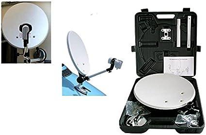 Antena parabólica portátil con ventosa, apta para caravanas y ...
