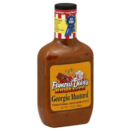 (Famous Dave's BBQ Sauce Georgia Mustard, 17.5-ounce (Pack of)