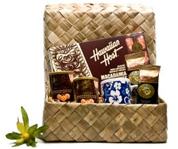 Hawaiian Sampler Chocolates Macadamia Nuts and Coffees Gift Basket