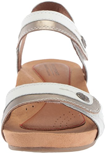 Hill Sandal Hollywood 2 White Women's Piece Leather Cobb 1aqdnAB1