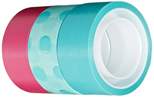 Scotch Expressions Magic Tape/ 3/4 x 300 Inches/ Circles/ Blue/ Pink/ 3-Rolls/Pack (C214-3PK-3)