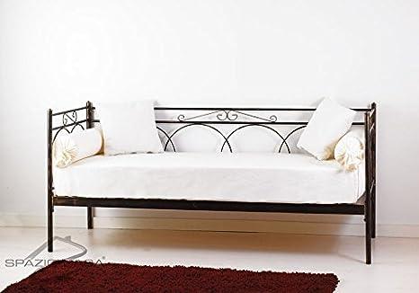 Sofá cama de hierro forjado con Red (madera de haya Tosca ...