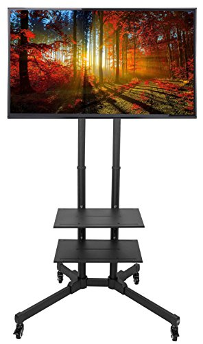 VIVO TV Cart for LCD LED Plasma Flat Panels Stand with Wheels Mobile fits 37'' to 70'' (STAND-TV01B) by VIVO
