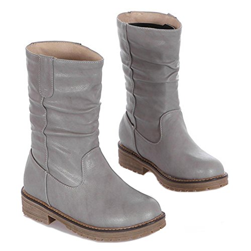 Women Boots COOLCEPT Pull Gray On OxPCqSa