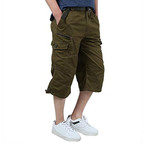 Pantalons Jaune Pantalon Solide Neeky Travail Élastique Pantalons Hommes Tondu Loose Casual Cargo Mode Sport q7A1a