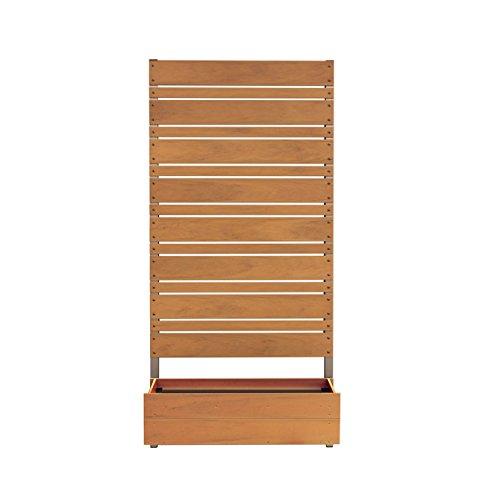 ガーデンフェンス 木製 日本製 高さ180cm 1cm間隔 ボックス付き/ココア B01MA3QHFJ ココア ココア