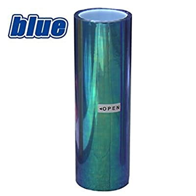 LED LIGHT 12 by 48 inches Self Adhesive Shiny Chameleon Headlights Tail Lights Fog Lights Films,Film Sheet Sticker,Tint Vinyl Film (12 X 48 Bright Light Blue): Automotive