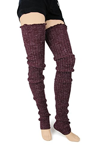 Long Knit Leg Warmers (Super Long Cable Knit Leg Warmers by Foot Traffic in)