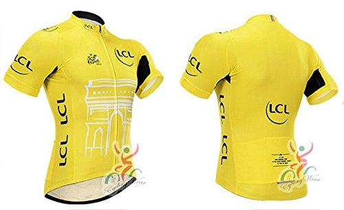 Cycling Jerseys Men's Bicycle Jersey Summer Breathable Jersey Bike Biking Shirt V303 (Q, L)