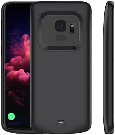 BasicStock Funda Batería Samsung Galaxy S9, 4700mAh Batería Externa Recargable Ultra Delgada Protector portátil Carga Caso de Prueba de Choque para Samsung Galaxy S9 5.8