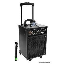 Pyle-Pro Pwma930i 600-Watt Vhf Wireless Portable Pa System/Echo with Ipod Dock