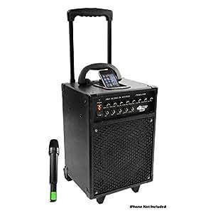 Pyle-Pro PWMA930I 600 Watt VHF Wireless Portable PA System/Echo with iPod Dock